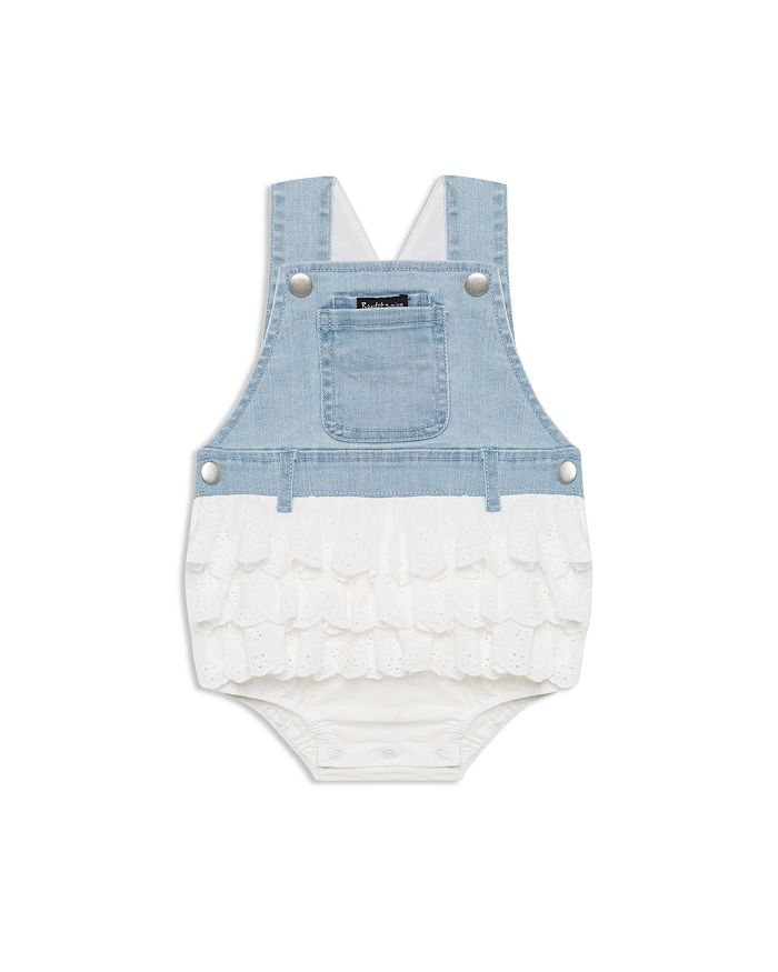 Bardot Junior - Girls' Eyelet & Denim Overalls Romper - Baby