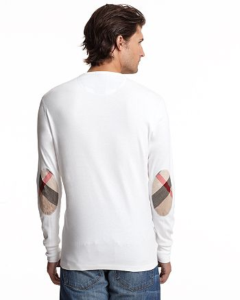 Burberry Long Sleeve Shirt with Check Elbow Patches   Bloomingdale s 3be51371d5f