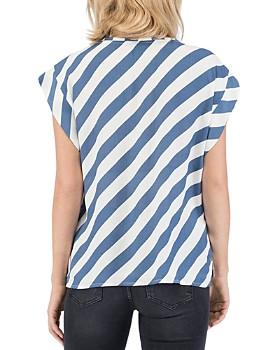 B Collection by Bobeau - Jocelyn Striped Cap-Sleeve Top