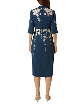 HOBBS LONDON - Siobhan Embroidered Sheath Dress