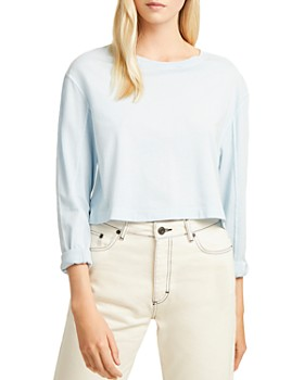 FRENCH CONNECTION - Zinia Cropped Long-Sleeve Jersey Tee