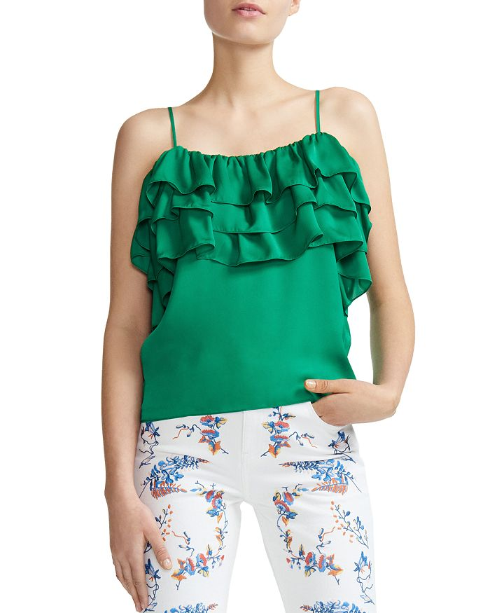 Maje - Lovant Tiered Ruffled Camisole Top