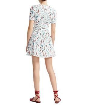 Maje - Rasion Pleated Floral-Print Mini Dress