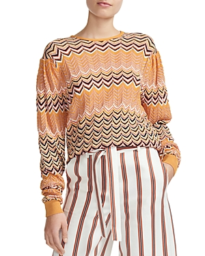 Maje Macha Geo-Pattern Sweater