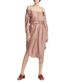 Maje - Rulylla Off-the-Shoulder Shirt Dress