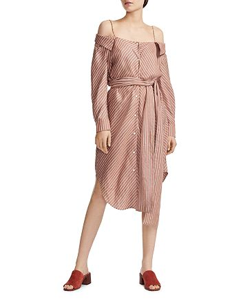 Maje - Rulylla Off-the-Shoulder Shirt Dress