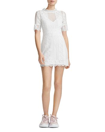 Maje - Revanta Lace-Trim Sheath Dress