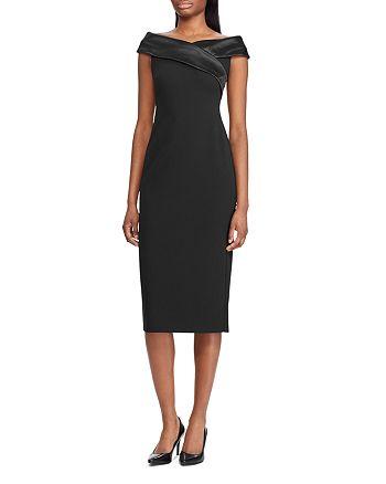 Ralph Lauren - Crepe Off-the-Shoulder Dress