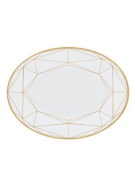 """Prouna - Gem Cut Gold 14"""" Oval Platter"""