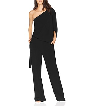 HALSTON - One-Shoulder Jumpsuit