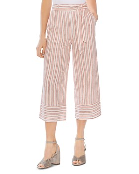 aeaacb22724 VINCE CAMUTO - Riviera Stripe Cropped Wide-Leg Pants - 100% Exclusive ...