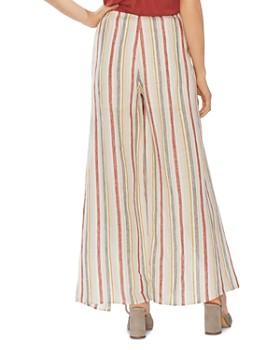 VINCE CAMUTO - Canyon Stripe Tie-Front Wide-Leg Pants
