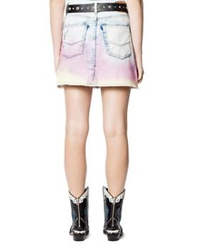 Zadig & Voltaire - Juicy Tie-Dyed Denim Mini Skirt