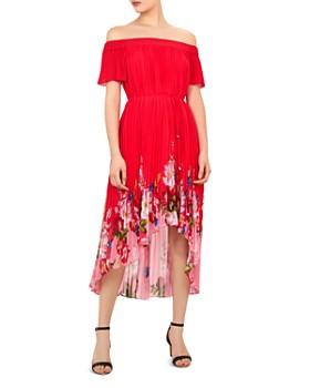 Ted Baker - Gillyy Berry Sundae Off-the-Shoulder Dress