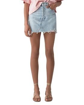 AGOLDE - Quinn High-Rise Denim Mini Skirt in Vega