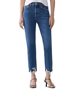 AGOLDE - Riley Crop Straight Jeans in Veto