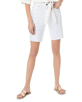 Joe's Jeans - The Hi Honey Bermuda-Destructed-Cut Hem Shorts in Mattie
