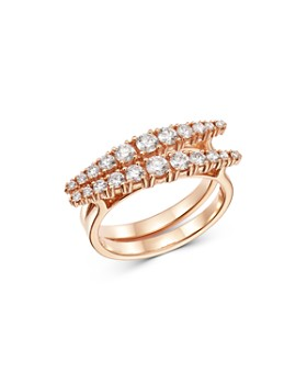 OWN YOUR STORY - 14K Rose Gold Day to Night Diagonal Diamonds Ring