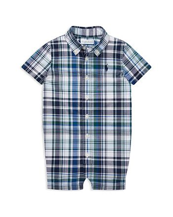 Ralph Lauren - Boys' Plaid Cotton Poplin Shortall - Baby