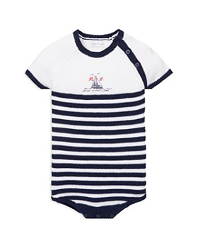 Ralph Lauren - Boys' Striped Knit Cotton Bodysuit - Baby