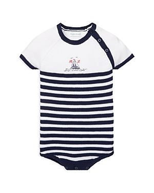 Ralph Lauren Childrenswear Boys Striped Knit Cotton Bodysuit  Baby