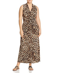 VINCE CAMUTO Plus - Leopard Print Maxi Dress