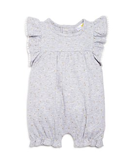 Bloomie's - Girls' Ruffle-Sleeve Polka-Dot Short Coverall, Baby - 100% Exclusive