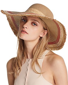 August Hat Company - Color-Block Detail Floppy Sun Hat - 100% Exclusive