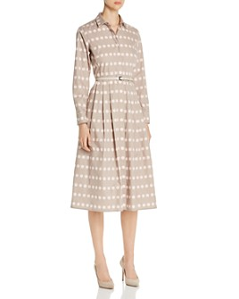 Max Mara - Elio Polka Dot Cotton Shirt Dress