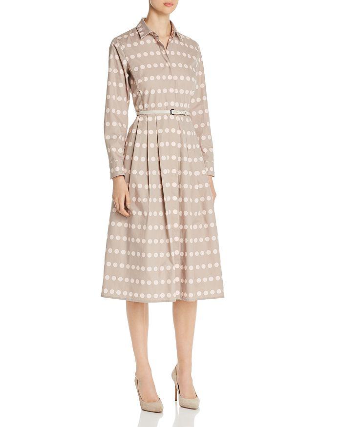 Max Mara - Elio Polka Dot Cotton Shirt Dress