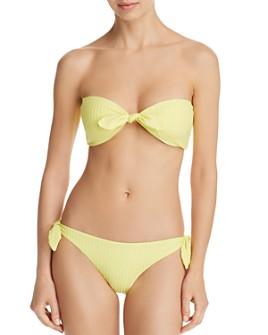 Dolce Vita - Day Glow Bandeau Bikini Top & Day Glow Tie Bikini Bottom