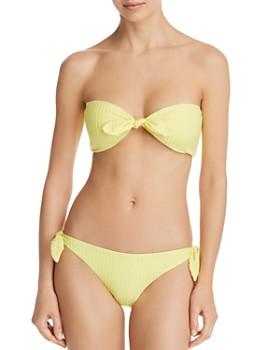 3489a7e1d0237 Dolce Vita - Day Glow Bandeau Bikini Top & Day Glow Tie Bikini Bottom