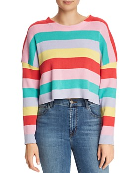 f001d33930ac Honey Punch - Striped Cropped Sweater ...