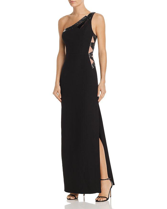 BCBGMAXAZRIA - Sequin-Embellished One-Shoulder Gown