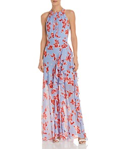 Eliza J - Floral Ruffle Gown