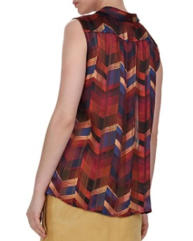 ba&sh - Pepite Herringbone Print Top