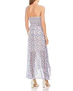 VINCE CAMUTO - Strapless Floral-Print Maxi Dress