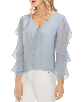 05bd23eb17d378 VINCE CAMUTO - VINCE CAMUTO Ruffle-Sleeve Blouse ...