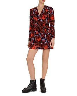 The Kooples - Kiss-Print Mini Dress