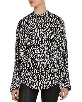 The Kooples - Leopard Button-Down Shirt