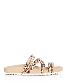 J/Slides - Women's Tess Snake-Embossed Slide Sandals