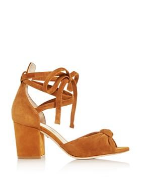 Isa Tapia - Women's Carina Ankle Tie Block-Heel Sandals