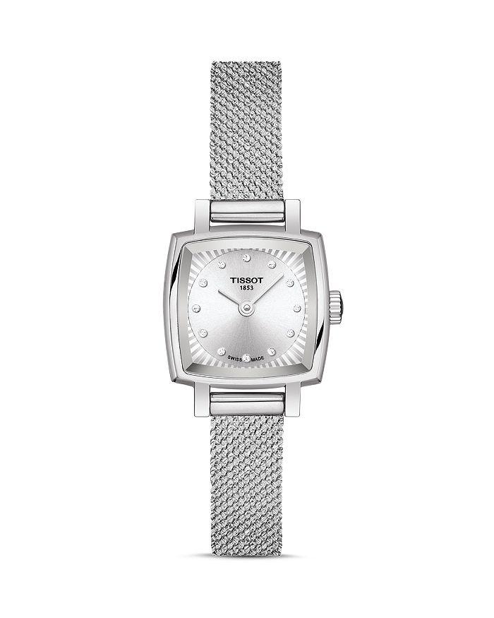 Tissot - Lovely Square Diamond Mesh Bracelet Watch, 20mm x 20mm