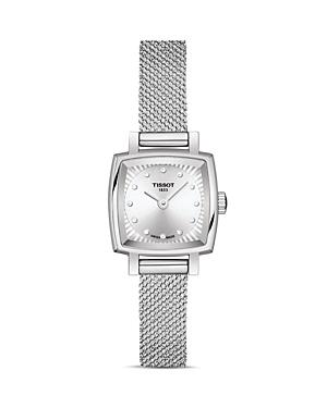 Tissot Lovely Square Diamond Mesh Bracelet Watch, 20mm x 20mm-Jewelry & Accessories