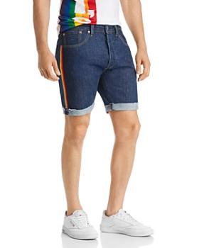 Levi's - 501 Taper Regular Fit Denim Cutoff Shorts