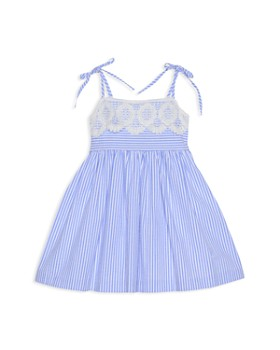 dd7c83817aabe Pippa & Julie - Girls' Seersucker & Lace Fit-and-Flare Dress ...