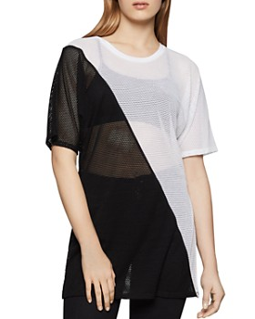 5495cec252d BCBGENERATION - Color-Block Mesh Tunic ...