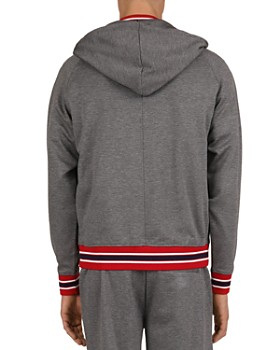 The Kooples - Mix Tricolor Rib Zip-Front Hoodie
