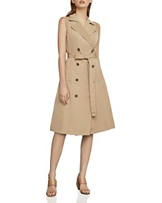 BCBGMAXAZRIA - Fit-and-Flare Trench Dress
