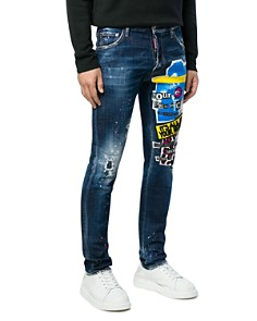 DSQUARED2 - Mid-Rise Skinny Fit Jeans in Blue